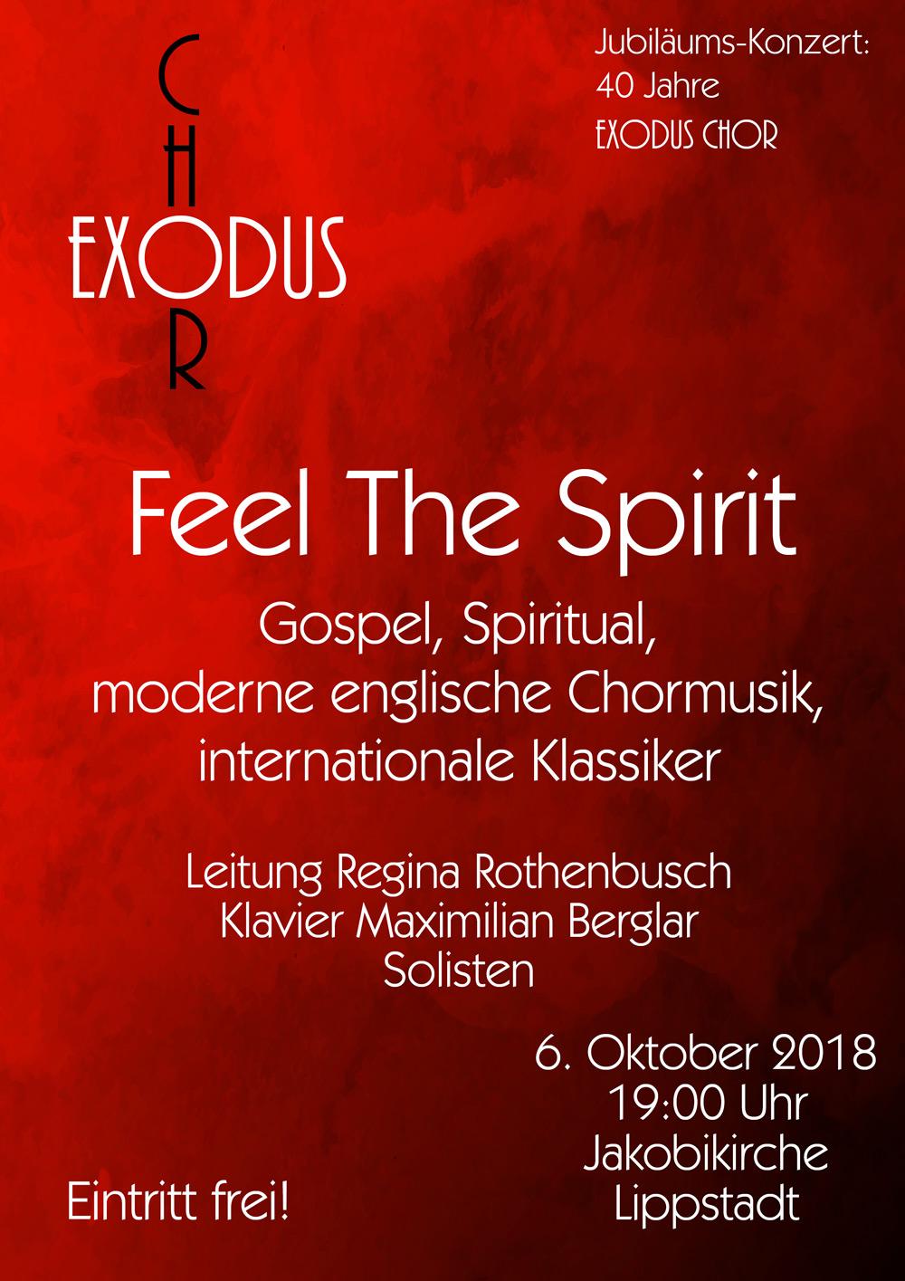 Plakat Exodus Chor Jakobikirche Lippstadt